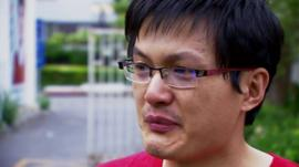 Jimmy Wang, relative of missing passenger