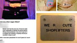 Tumblr with stolen goods