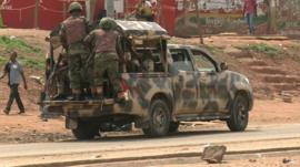 Armed soldiers in Nigeria