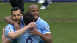 The moment Man City won the title