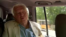 John Simpson in car