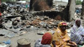 Women in town of Gamboru