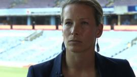 England and Everton Ladies goalkeeper Rachel Brown-Finnis says the sexist jokes made by Premier League chief executive Richard Scudamore are an