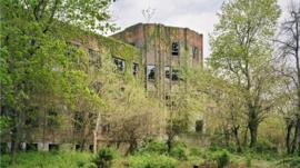 An abandoned building on North Brother Island in New York City