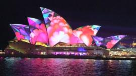 Sydney Opera House during the city's annual