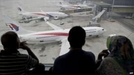 Malaysian Airline planes on tarmac - file image