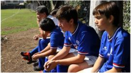 Young players in Mexico on the bench