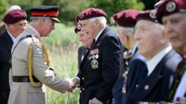 Prince Charles meeting veterans