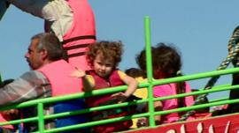 Children rescued from refugee ship