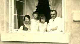 Jaroslava and her family in Lidice