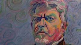 Rolf Harris self-portrait