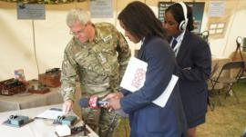 Imanuella and Safara find out about Morse code from Captain Steve Slayney