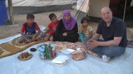 Murad Shishani breaks fast with Hadija and her family
