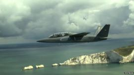 Textron AirLand 'Scorpion' fighter jet on way to Farnborough Airshow
