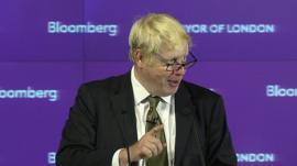 Boris Johnson giving a speech