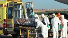 Health staff tackling Ebola outbreak