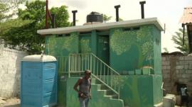 An eco toilet in Port Au Prince