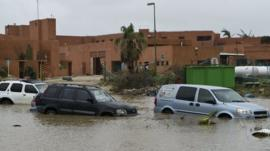 Floods caused by Hurricane Odile
