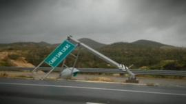 Damage caused by hurricane in Cabo San Lucas