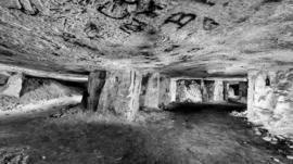 An underground cavern
