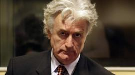 The former Bosnian Serb leader Radovan Karadzic