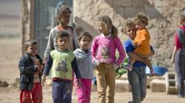 Syrian Children who are at a camp