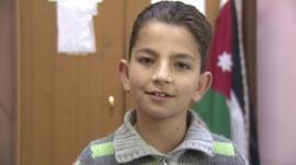 a Syrian boy