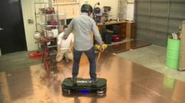 The BBC's Richard Taylor has been lucky enough to have a go on the hoverboard