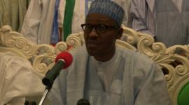 Nigeria's main opposition candidate Muhammadu Buhari