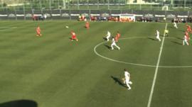 Julian Koch scores an outrageous goal for FC St. Pauli