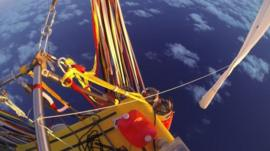 View from helium balloon