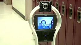 The robot that goes to school