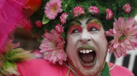 carnival goer in Brazil
