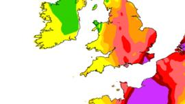 Air pollution forecast for Friday
