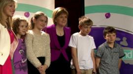 Nicola Sturgeon and Newsround viewers