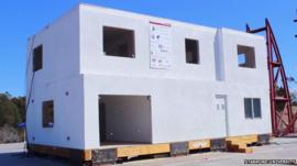 A building fitted with earthquake resistant technology