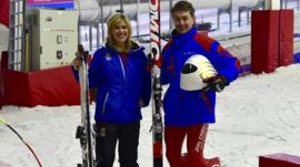 Jenny and speed skier Jan Farrell