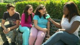Ayshah spoke to three Italian children