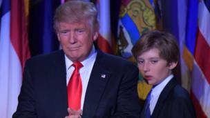 Ten-year-old Barron Trump stood behind his dad Donald, as he announced he'd won the US election. Barron will now probably move into the White House, which is the president's official home, with his mum and dad in January. But what's it like to grow up in such an important place?
