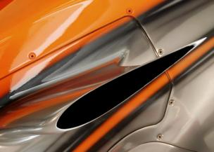 A close up image of a car