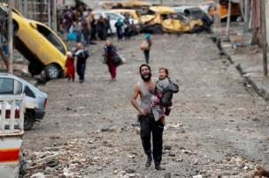 فارون من الحرب في الموصل