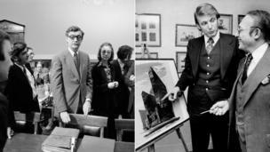 1974-tii Hillary waxay ahayd qareen ka tirsan guddi doonayay in xilka laga qaado madaxweyne Richard Nixon. laba sano ka dib markaasi Trump wuxuu billaabay howlihiisa ganacsiga dhinaca guryaha