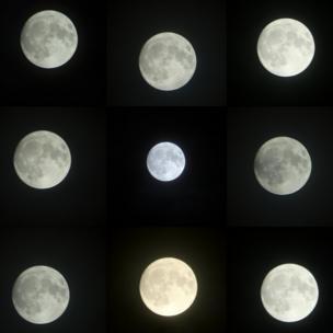 Серия снимков Луны над Госпортом