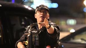 เจ้าหน้าที่ตำรวจที่รับมือกับเหตุร้ายบริเวณลอนดอนบริดจ์