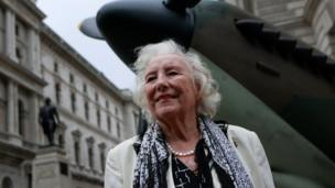 Dame Vera Lynn in 2010 at a ceremony to mark the 70th anniversary of the Battle of Britain in central London