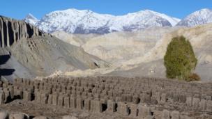 हिमालय पर मौजूद ईंट का भट्ठा