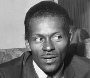 """American rock and roll singer, songwriter and guitarist Charles """"Chuck"""" Berry, one of the biggest influences on pre-Beatles pop."""