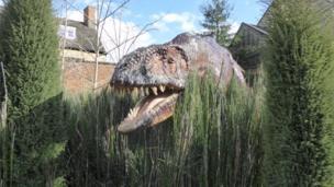 Dinosaur garden at Woodstock museum