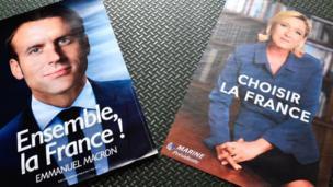 Emmanuel Macron (En marche) et Marine Le Pen (Front national) s'affronteront au second tour de la présidentielle.