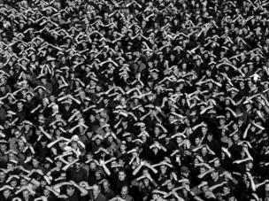 A crowd of men